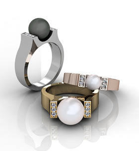 Pearl Ring Render